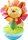 HABA 304280 - Stehauffigur Blume, Stoffspielzeug mit fröhlichem Blumengesicht für Babys ab 6 Monaten, inklusive Wackel- und Klingeleffekt