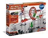 Clementoni 59126 Galileo Science – Action & Reaction Maxi Set, Modellbausatz für eine Kugelbahn, mehrteiliges Motorikspielzeug, Spielzeug für Kinder ab 6 Jahren