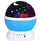 Sunnest Sternenhimmel Projektor Baby Nachtlicht LED 360° Rotierend Projektionslampe Romantische LED Perfekt für Party,Kinderzimmer,Weihnachten Geschenk