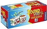 KOSMOS 697372 - Soundwürfel Fahrzeuge, Lernspielzeug mit Geräuschen, für Kinder ab 2 Jahre, Spielzeug für Kleinkinder, Geräusche von Feuerwehrauto, Lokomotive, Hubschrauber, Rennwagen, LKW, Schiff